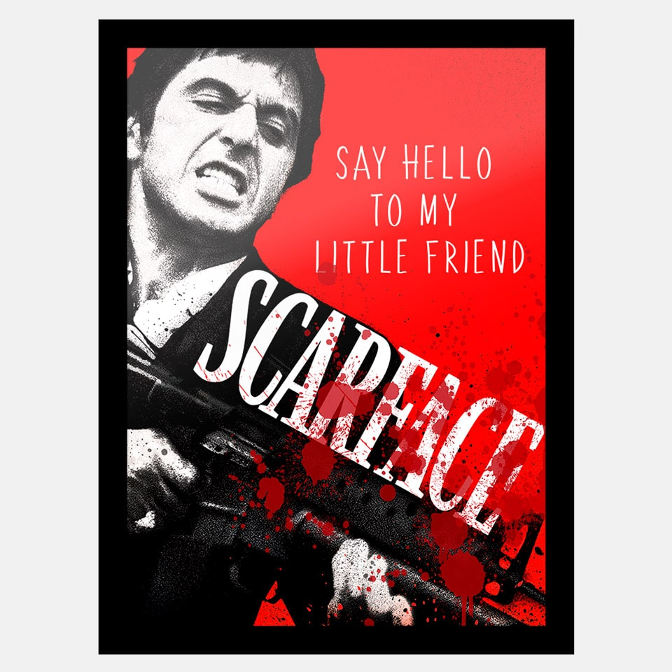 Quadro Scarface Say Hello to my litle friend